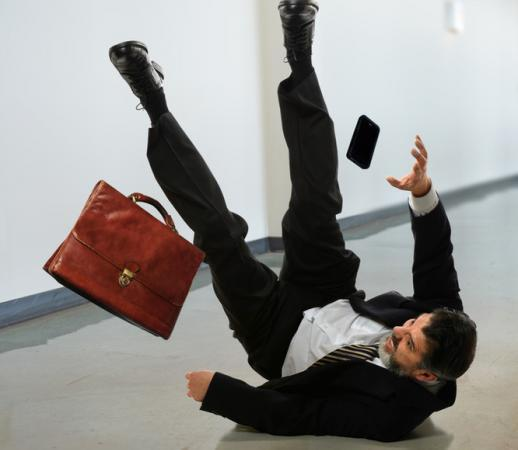 a man who experienced a slip and fall accident